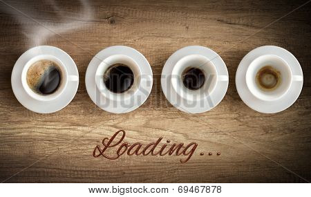Cup of coffee - morning loading concept