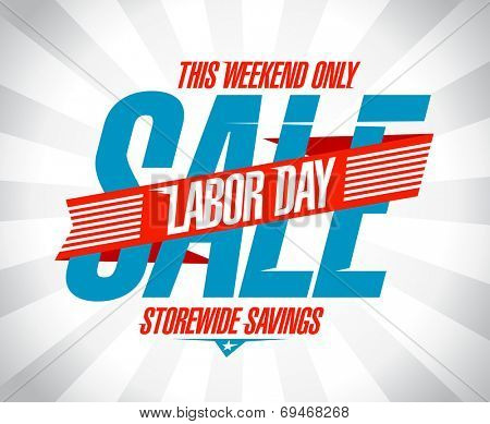 Labor day savings sale retro style design.