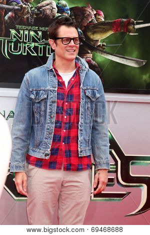 LOS ANGELES - AUG 3:  Johnny Knoxville at the Teenage Mutant Ninja Turtles Premiere at the Village Theater on August 3, 2014 in Westwood, CA