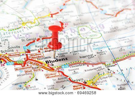 Bludenz ,austria Map