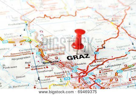 Graz ,austria Map