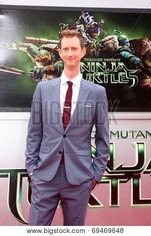 LOS ANGELES - AUG 3:  Jeremy Howard at the Teenage Mutant Ninja Turtles Premiere at the Village Theater on August 3, 2014 in Westwood, CA
