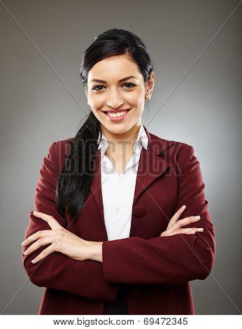 Happy Hispanic Businesswoman