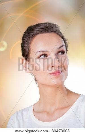 Lady Thinking About Something Pleasant