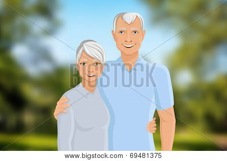 Senior couple outdoor
