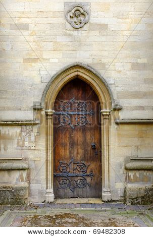 door of St Mary's Church Melton Mowbray