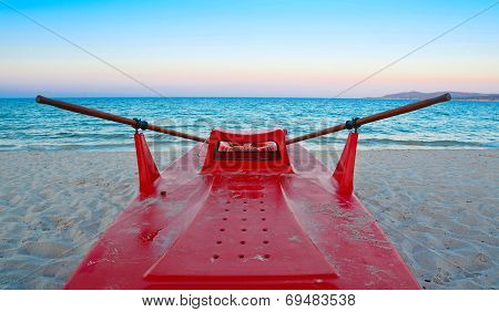 Lifeboat On The Sand