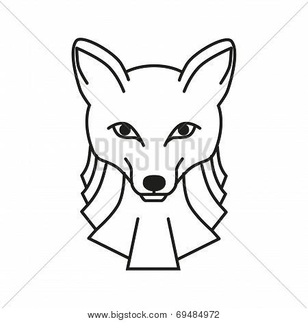 Fox Line Illustration