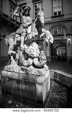 Statue Of Rider On The Horse, Bratislava - Slovakia