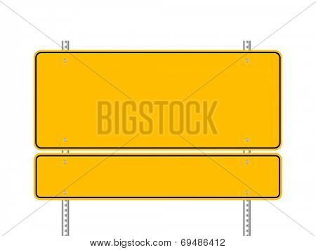 Blank yellow road signs vector illustration