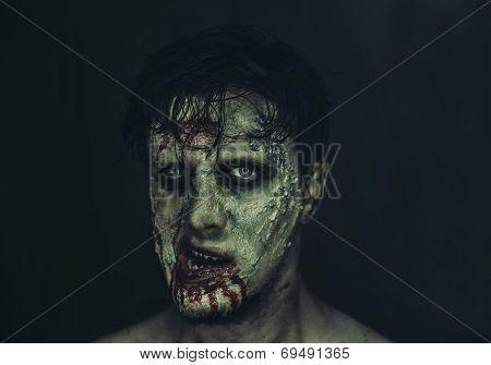 Portrait Of Zombie Man