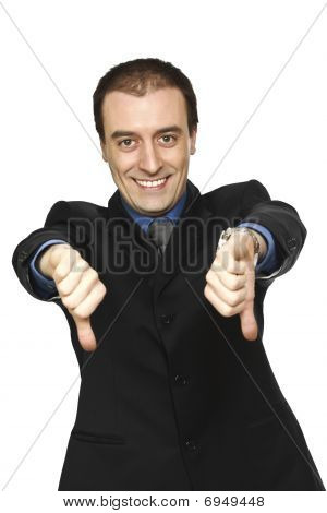 Smiling Man Thumbs Down