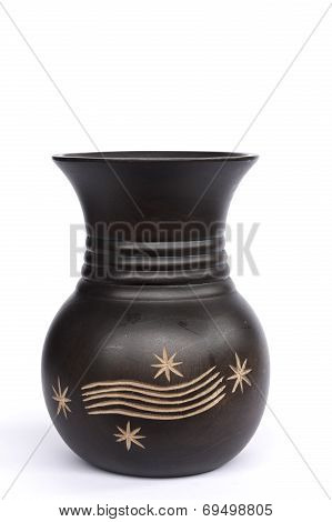 Beautiful Vase Image On The White Background