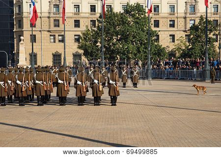 Changing of the Guard at La Moneda