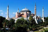 foto of constantinople  - Hagia Sofia church in Istanbul Constantinople Turkey - JPG