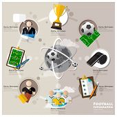 pic of lineman  - Football Tournament And Sport Flat Icon Infographic Design Template - JPG