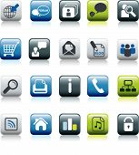 stock photo of blog icon  - website and internet buttons and symbol set - JPG