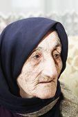 Elderly Woman Looking Aside