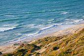 pic of gibraltar  - Waves on Atlantic Ocean coast Gibraltar strait Morocco  - JPG