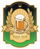 pic of malt  - Label with a beer glass - JPG