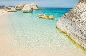 ������, ������: White Rocks In Cala Mariolu Shore