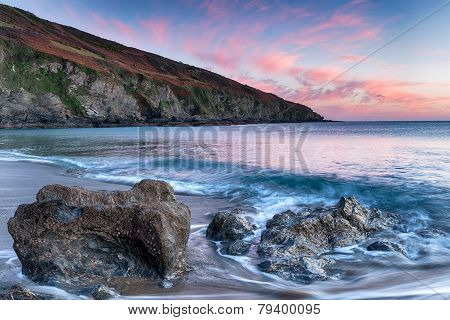 Sunset On The Cornish Coastline