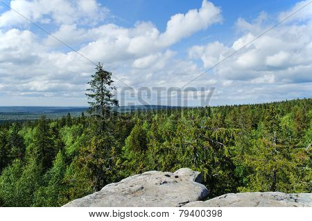Mountain Landscape. Russia. Ural Mountains