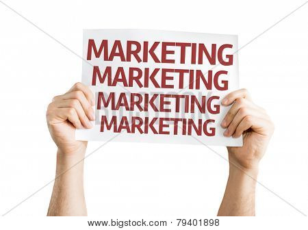Marketing card isolated on white background