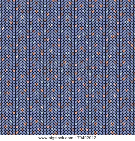 Seamless melange pattern on the wool knitted texture