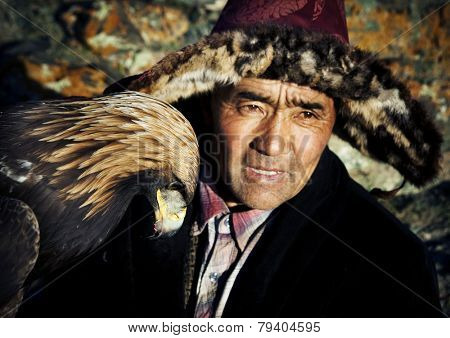 Mongolian man with traditional lifestyles.