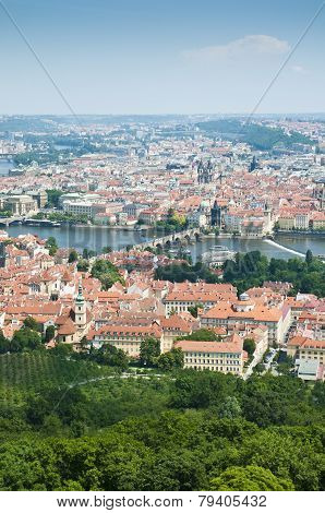 Prague Skyline From Petrin Tower