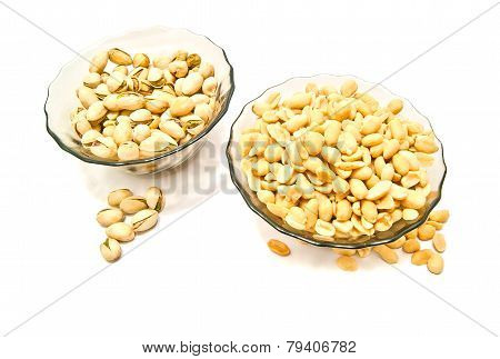 Two Plate With Many Tasty Nuts