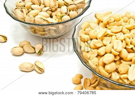 Two Dish With Yummy Nuts
