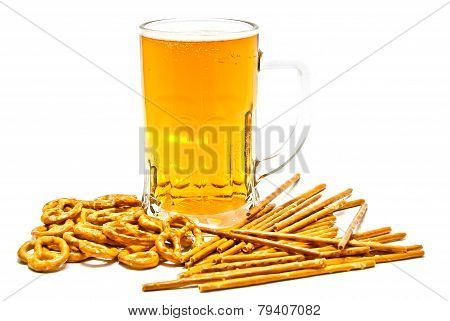 Tasty Pretzels, Breadsticks And Light Beer