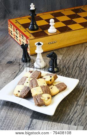 Chocolate And Cranberry Checkerboard Cookies