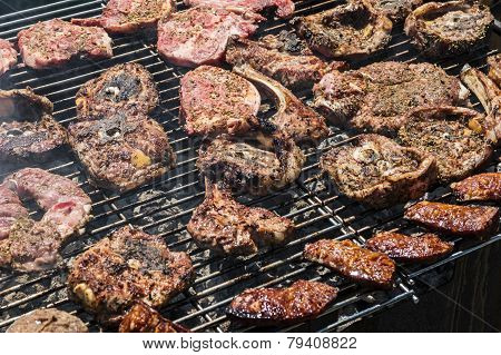 Several sorts of meat