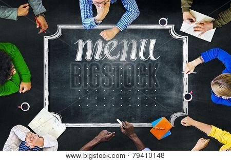 Blackboard Brainstorming Cooperation Planning Meeting Strategy Sharing Concept