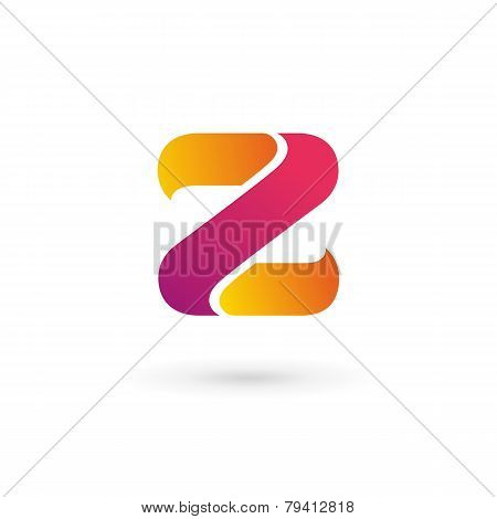 Yellow and pink Letter Z Logo Icon on white