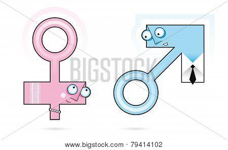 gender symbols characters