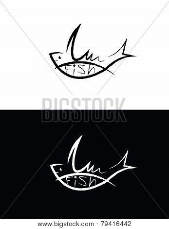 Set Of Fish Sign