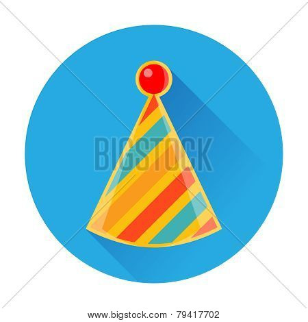 celebratory striped clown cap icon