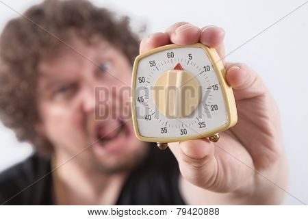 Man With Egg Timer