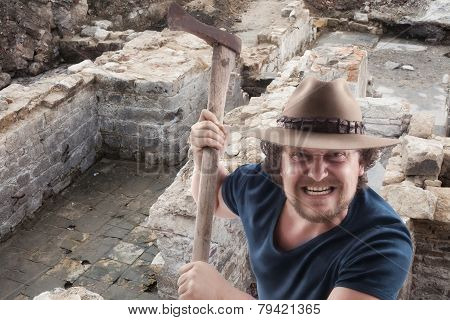 Angry Man With A Ax