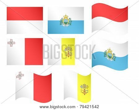 European Flags 8 Eps 10