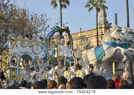 Traditional Spanish Cavalcade Of Magi