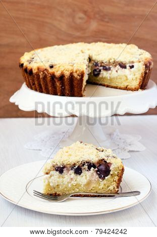 Creamy Cherry Coffee Cake