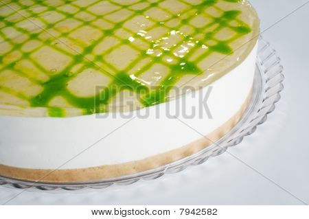 lime cheese cake detail