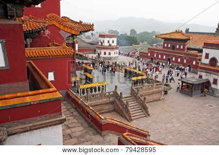 Famous Puning Temple In Chengde, China
