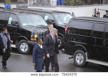 Mayor De Blasio & Chirlaine McCray