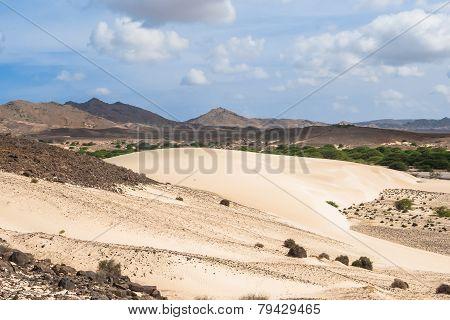 Sand Dunes In Viana Desert - Deserto De Viana In Boavista - Cape Verde - Cabo Verde